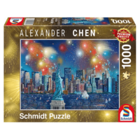 thumb-Fireworks at the Statue of Liberty - 1000 pieces-2