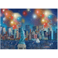 thumb-Fireworks at the Statue of Liberty - 1000 pieces-1