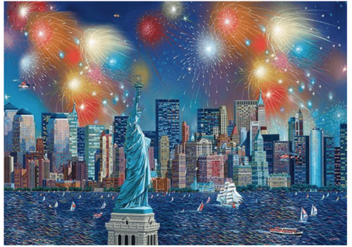 Fireworks at the Statue of Liberty - 1000 pieces