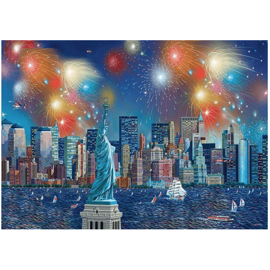 Fireworks at the Statue of Liberty - 1000 pieces-1