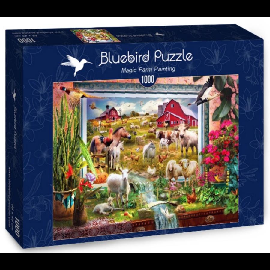 Peinture de la ferme magique  - puzzle de 1000 pièces-2