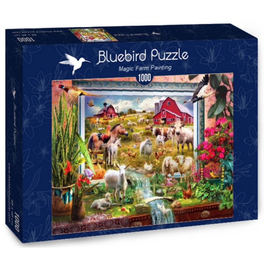 Schilderij van de magische boerderij  - puzzel van 1000 stukjes-2