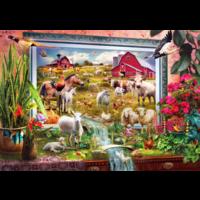 thumb-Peinture de la ferme magique  - puzzle de 1000 pièces-1