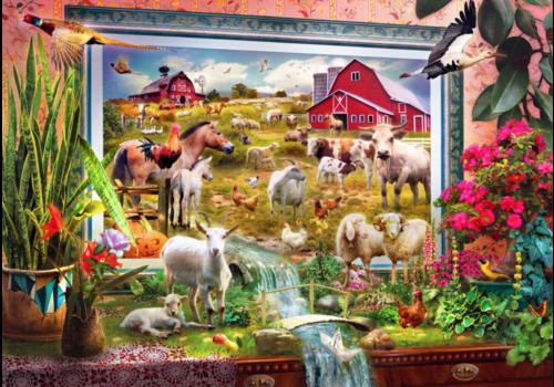 Bluebird Puzzle Magic Farm Painting  - 1000 pieces