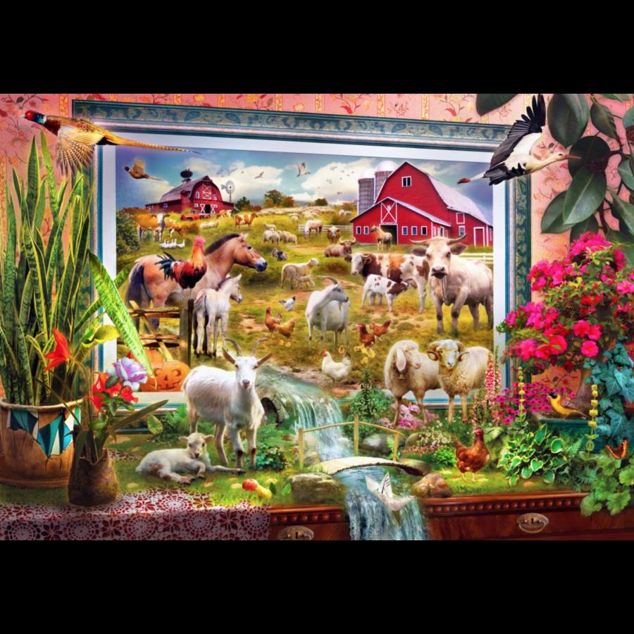 Schilderij van de magische boerderij  - puzzel van 1000 stukjes-1