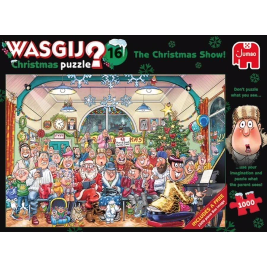 Wasgij Christmas 16 - The Christmas Show! - 2 jigsaw puzzles of 1000 pieces-1