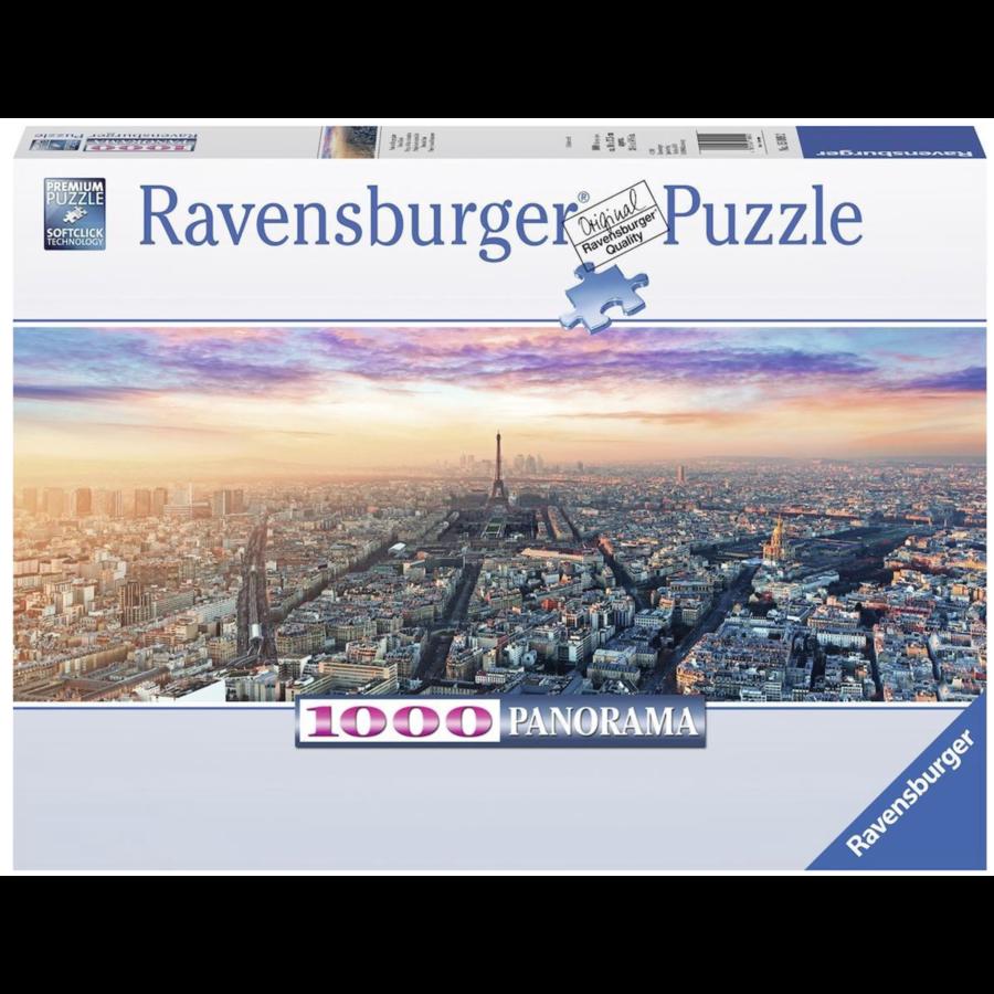 Ochtendgloren in Parijs - panoramische legpuzzel van 1000 stukjes-2