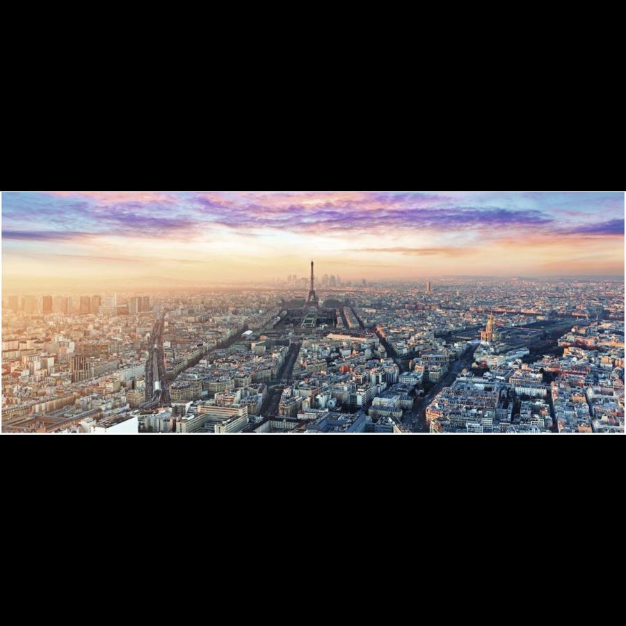 Ochtendgloren in Parijs - panoramische legpuzzel van 1000 stukjes-1