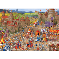 thumb-Bunny Battle - Ruyer - puzzle of 1000 pieces-1