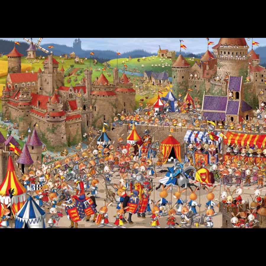 Bunny Battle - Ruyer - puzzel van 1000 stukjes-1