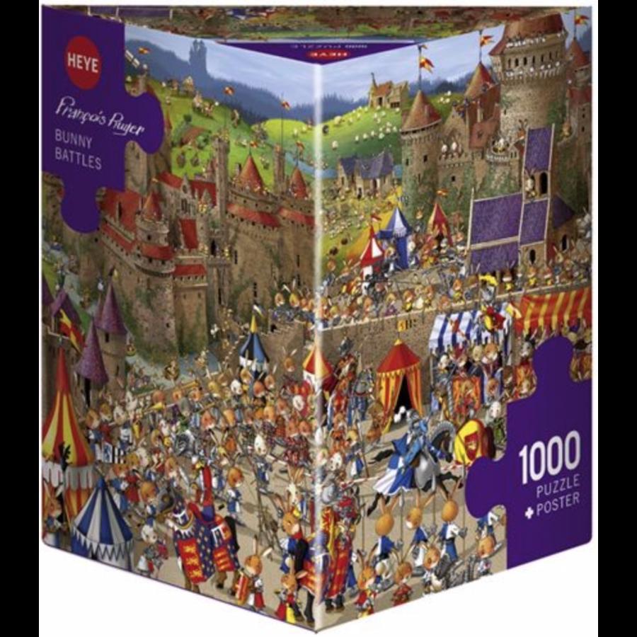 Bunny Battle - Ruyer - puzzel van 1000 stukjes-2