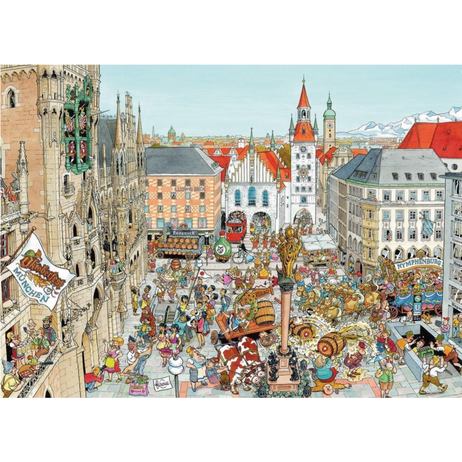 München - Fleroux -  puzzel van 1000 stukjes-2