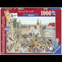 thumb-München - Fleroux -  puzzel van 1000 stukjes-1