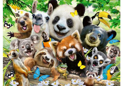 Ravensburger Wildlife selfie - 300 stukjes