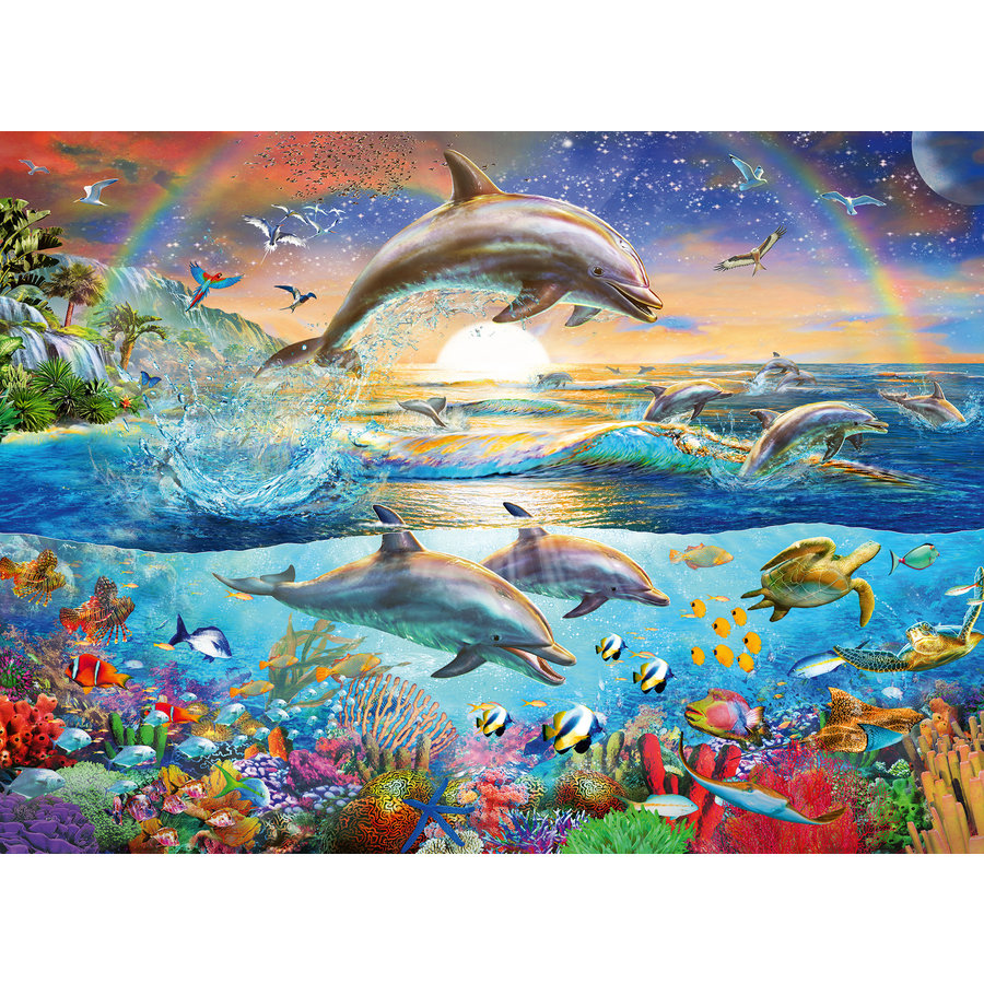 Dolfijnenparadijs - 300 stukjes-1