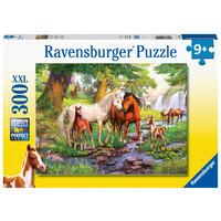 thumb-Wilde paarden bij de rivier  - 300 stukjes-2