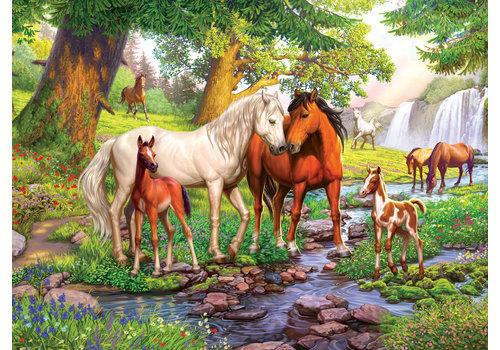 Wilde paarden bij de rivier - 300 stukjes