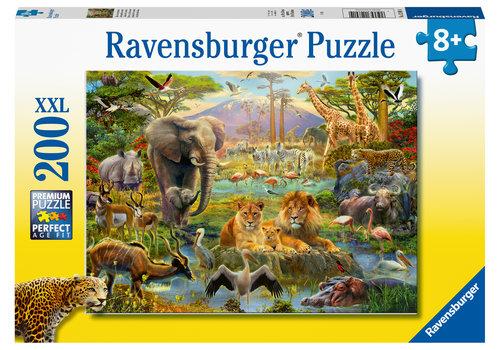 Ravensburger Dieren van de savanne - 200 stukjes