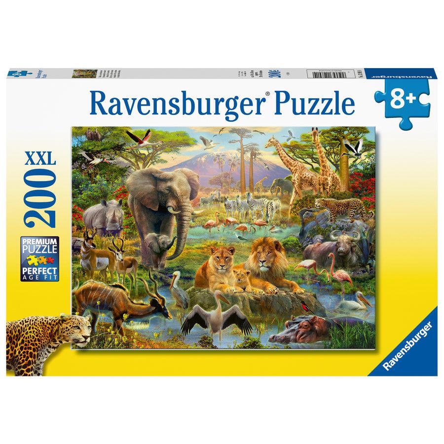 Animaux de la savane - Puzzle de 200 pièces-1