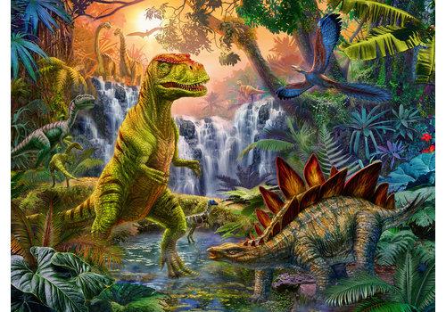 Oase van dinosauriërs -  100 stukjes