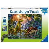 thumb-L'oasis des dinosaures -  puzzle de 100 pièces-2