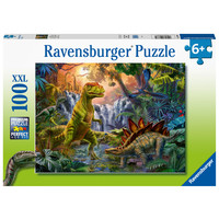 thumb-Oase van dinosauriërs - puzzel van 100 stukjes-2