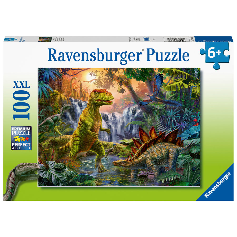 Oasis of dinosaurs - puzzle of 100 pieces-2