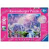 Ravensburger Koninkrijk van de Eenhoorns (glitter) - puzzel van 100 stukjes