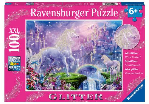 Ravensburger Koninkrijk van de Eenhoorns (glitter)  - 100 stukjes