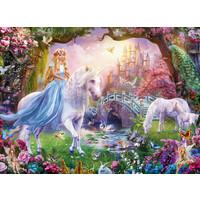 thumb-Magic unicorns - puzzle of 100 pieces-1