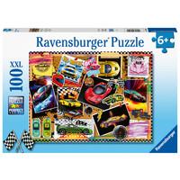 thumb-Prikbord met raceauto's - puzzel van 100 stukjes-1
