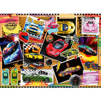 thumb-Prikbord met raceauto's - puzzel van 100 stukjes-2