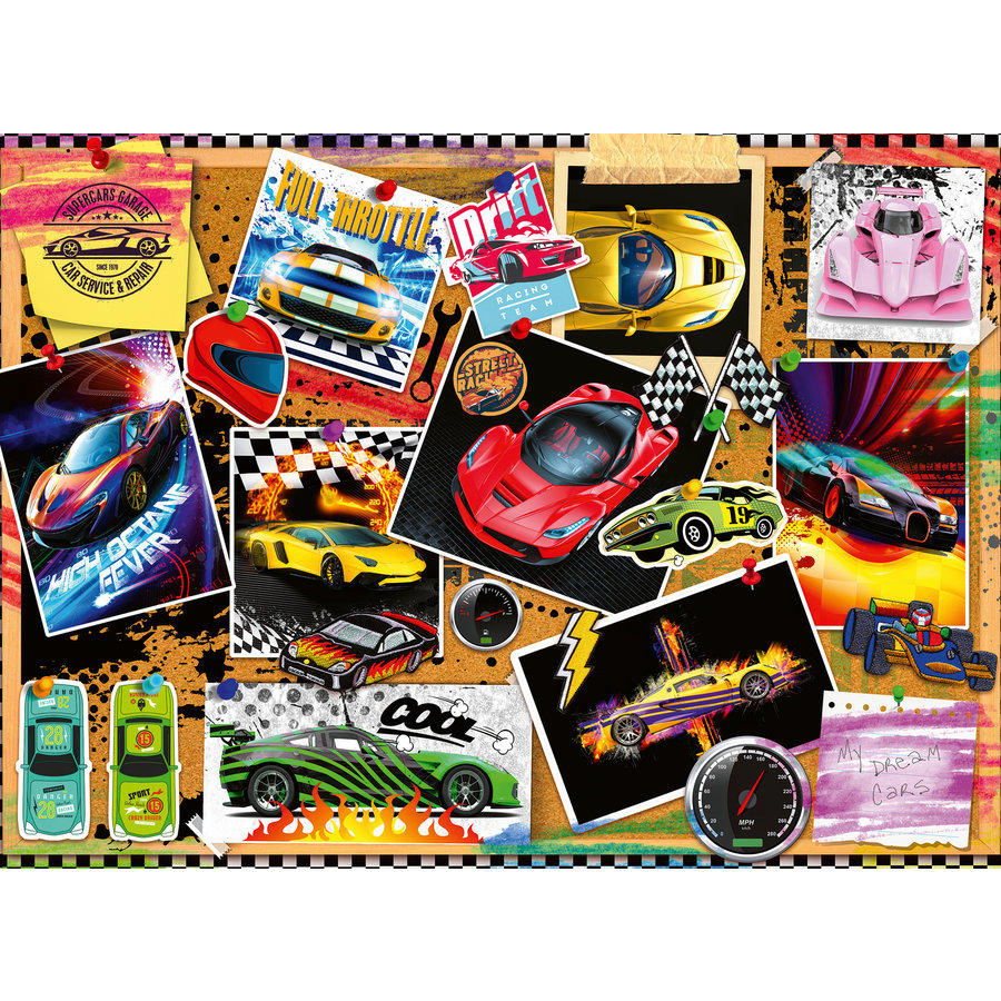 Racing Cars - puzzle of 100 pieces-2