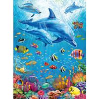 thumb-Rencontre des dauphins - puzzle de 100 pièces-1