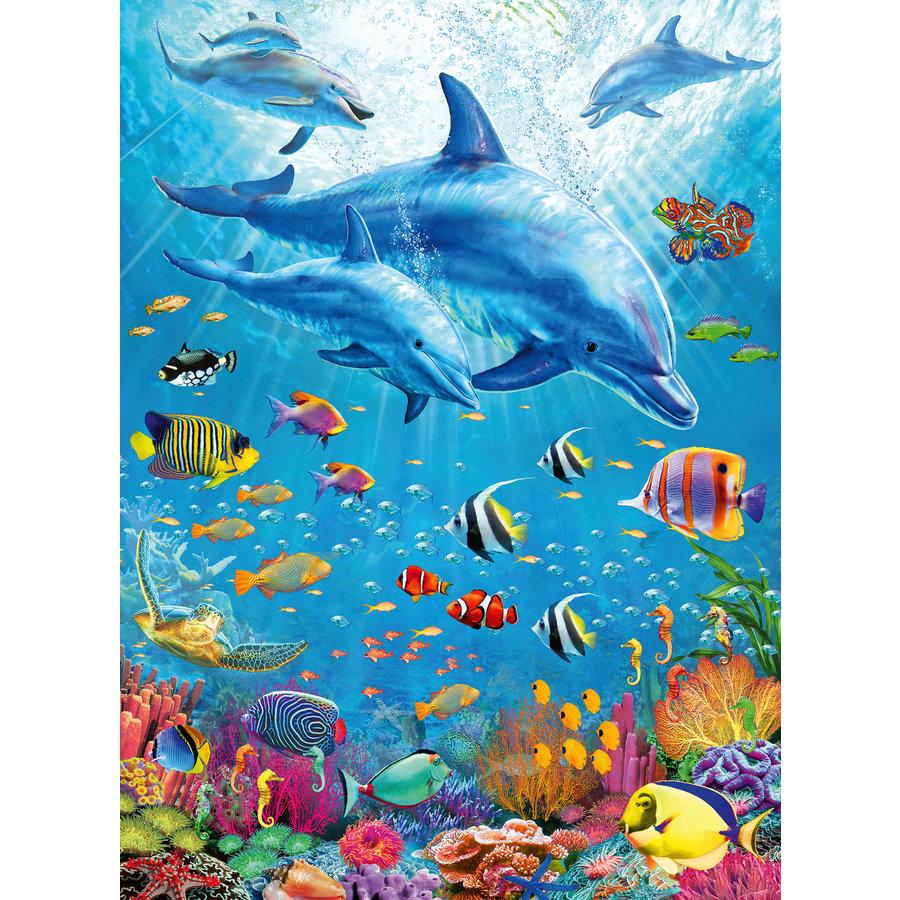 Rencontre des dauphins - puzzle de 100 pièces-1