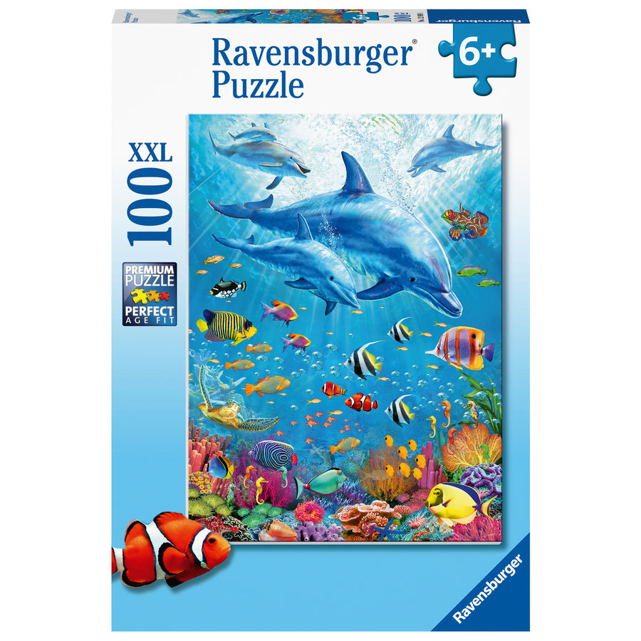 Dolphin Encounter - puzzle of 100 pieces-2