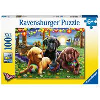 thumb-Pique-nique des chiens - puzzle de 100 pièces-2