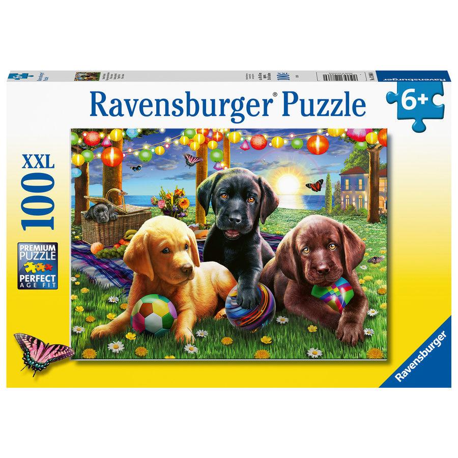 Honden picknick - puzzel van 100 stukjes-2