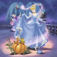 thumb-Disney Princesses   - 3 puzzles of 49 pieces-2