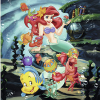 thumb-Disney Princesses   - 3 puzzles of 49 pieces-3