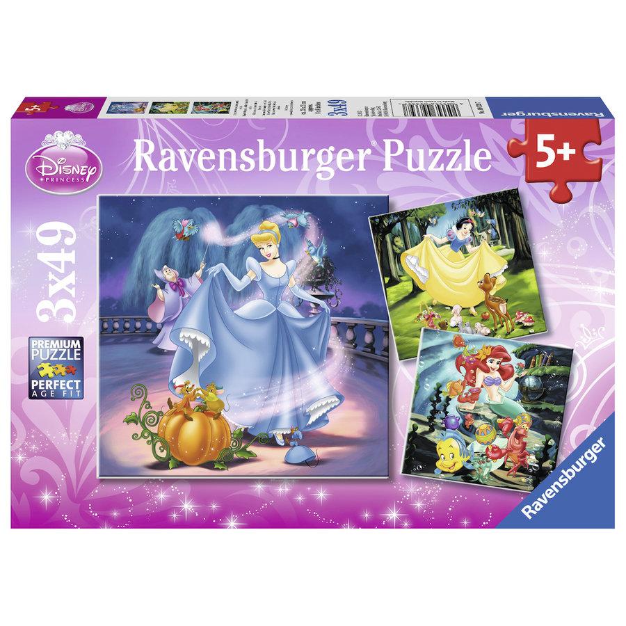 Disney Princesses   - 3 puzzles of 49 pieces-1