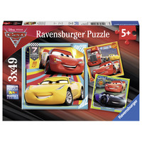 thumb-Disney Cars   - 3 puzzles of 49 pieces-1