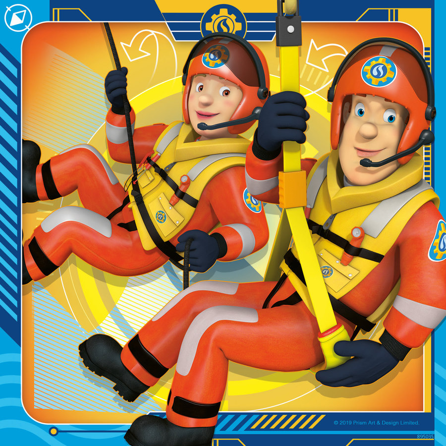 Pompier Sam  - 3 puzzles de 49 pièces-2