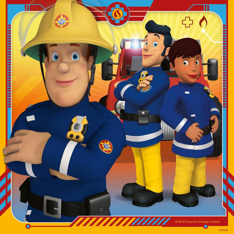 Brandweerman Sam - 3 puzzels van 49 stukjes-3