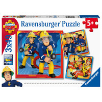 thumb-Fireman Sam - 3 puzzles of 49 pieces-1