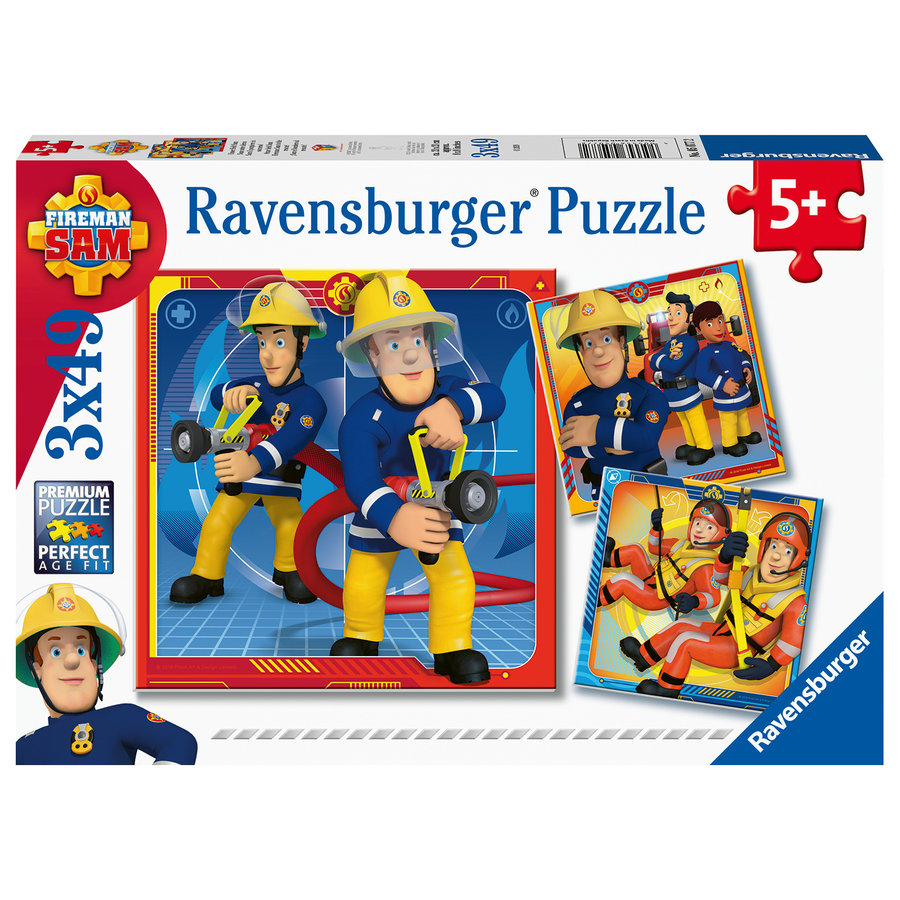 Brandweerman Sam - 3 puzzels van 49 stukjes-1