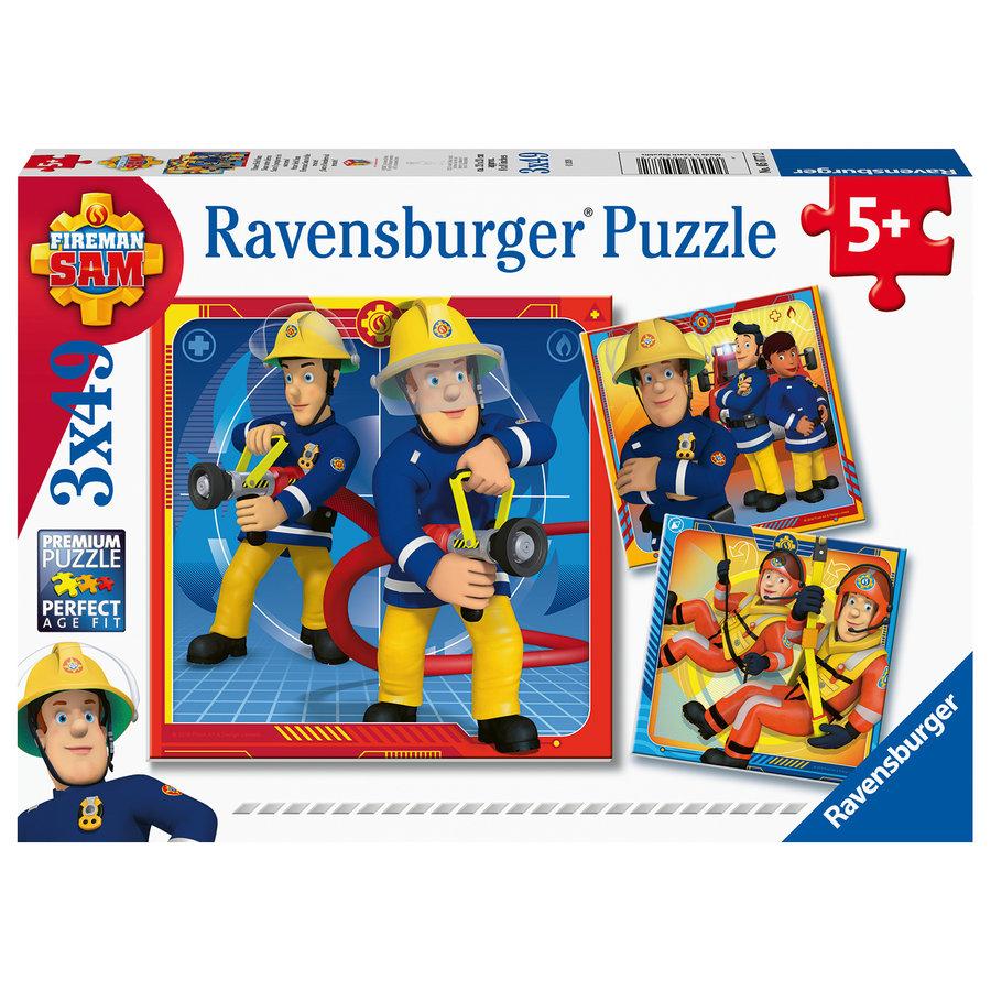 Pompier Sam  - 3 puzzles de 49 pièces-1