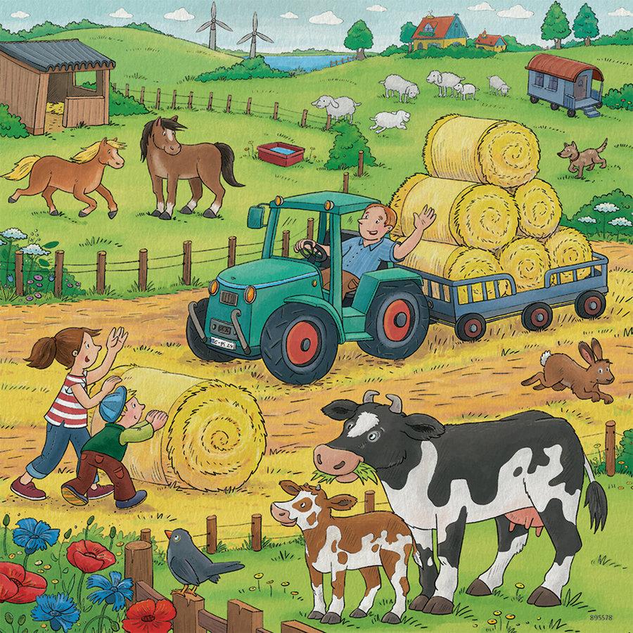 De boerderij - 3 puzzels van 49 stukjes-2