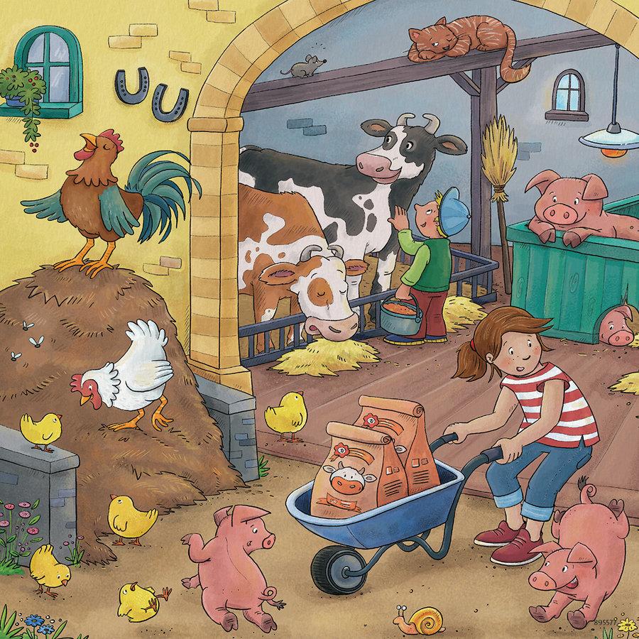 De boerderij - 3 puzzels van 49 stukjes-3
