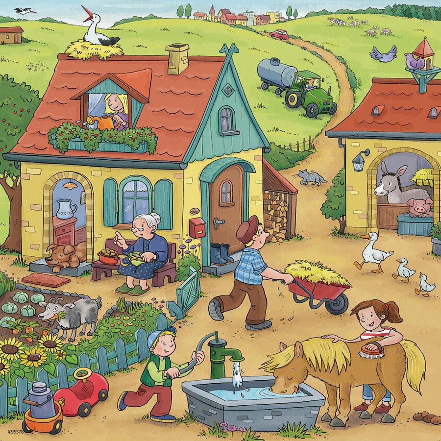 De boerderij - 3 puzzels van 49 stukjes-4